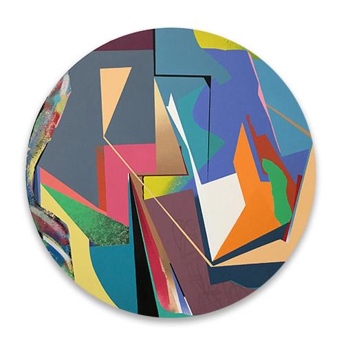 Cuadro redondo abstracto