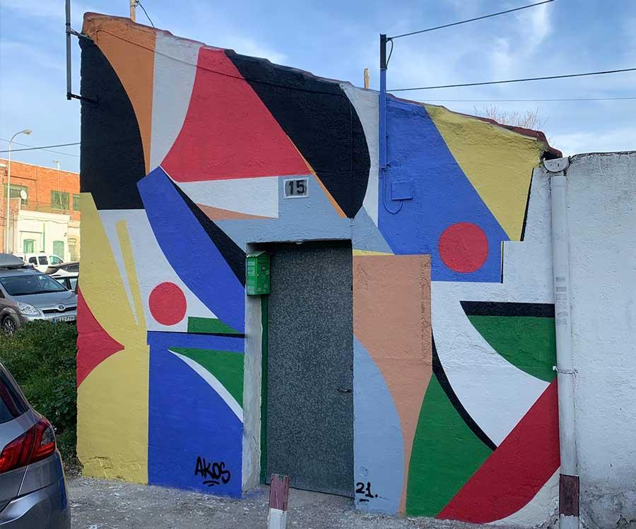 Mural abstracto Madrid akosart